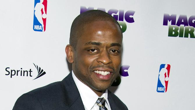 "FILE - This April 11, 2012 file photo shows Dule Hill at the opening night performance of the Broadway play ""Magic/Bird"" in New York. Hill will be tapping into his dancing roots when he joins ""After Midnight,"" a musical celebrating Duke Ellington's years at the famous Cotton Club nightclub in Harlem. Producers said Wednesday, July 24, 2013, the actor and trained tap dancer best known for starring in USA's hit detective series ""Psych,"" will play the host of the show, presenting the sound and glamor of the Harlem Renaissance. Performances start Oct. 18 at the Brooks Atkinson Theatre, with an official opening night set for Nov. 3. (AP Photo/Charles Sykes, File)"