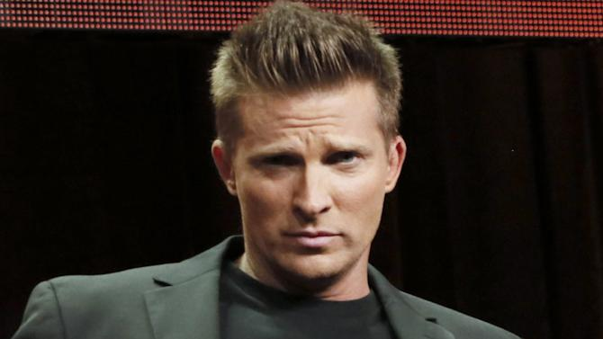 "FILE - This July 26, 2012 file photo shows actor Steve Burton at the Disney ABC panel for ""General Hospital"" in Beverly Hills, Calif. Burton, who played Jason Morgan on the ABC soap for 21 years and left the show the last fall to relocate his family to Tennessee is joining the cast of ""Young & The Restless."" Burton first made the announcement Monday, Jan. 7, 2013, on CBS' ""The Talk."" (Photo by Todd Williamson/Invision/AP, file)"