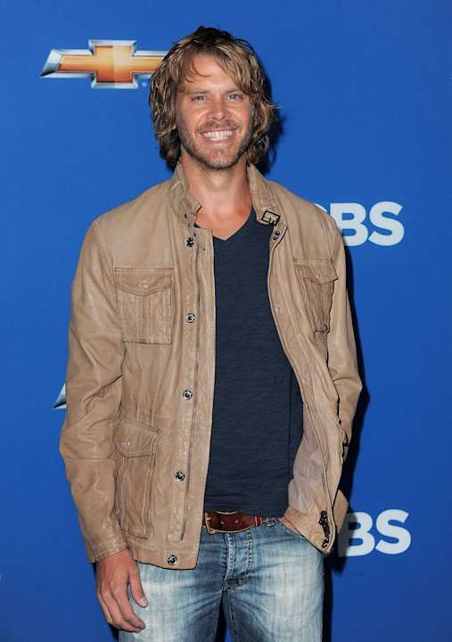 Eric Christian Olsen of ''NCIS: Los Angeles&quot; arrives at the CBS Fall Season Premiere party at The Colony on September 16, 2010, in Los Angeles. 