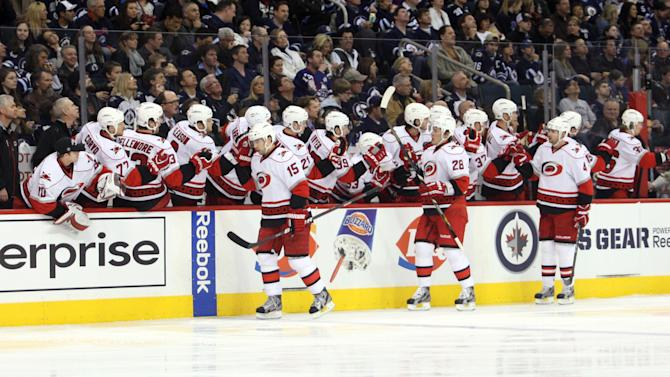 NHL: Carolina Hurricanes at Winnipeg Jets