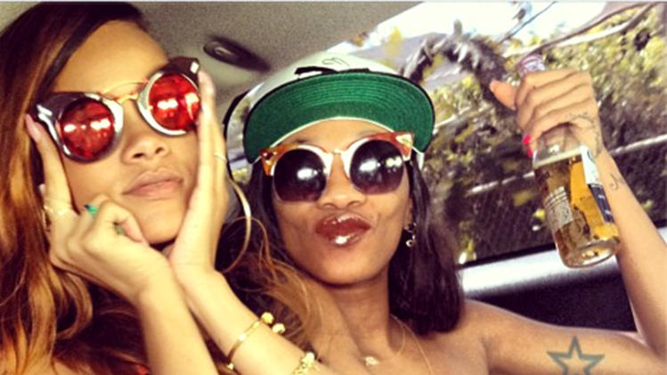 Rihanna and Melissa Forde