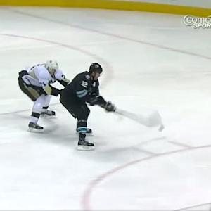 Marleau dekes and backhands in a shorty