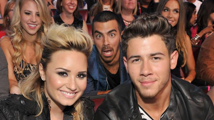Nick Jonas, Demi Lovato and Joe Jonas