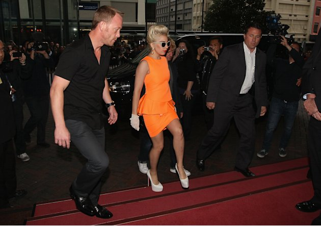 Lady Gaga Arrives In Auckland