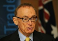 Australian Foreign Minister Bob Carr, seen here speaking at a press conference in Sydney, in May. Australia on Monday announced fresh sanctions against Syria restricting or prohibiting trade in oil and financial services to ramp up pressure on President Bashar al-Assad&#39;s regime to end bloodshed