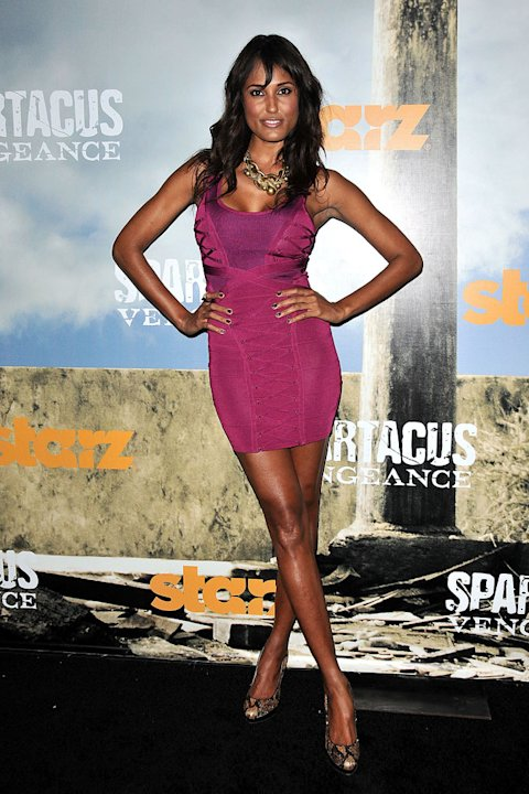 "Janine Fox attends the Starz Original Series ""Spartacus: Vengeance"" Premiere Event at ArcLight Cinemas Cinerama Dome on January 18, 2012 in Hollywood, California."