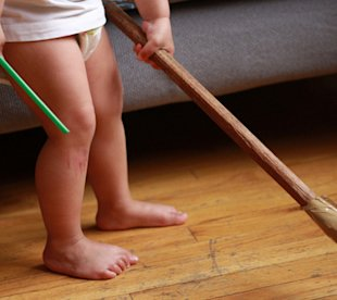 5 Chores Even a 1-year-old Can Do