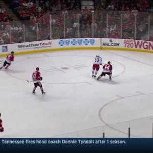 Corey Crawford Save on Scott Hartnell (07:40/1st)