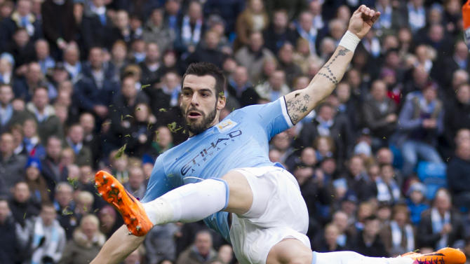 City crushes Spurs 6-0, United draws at Cardiff