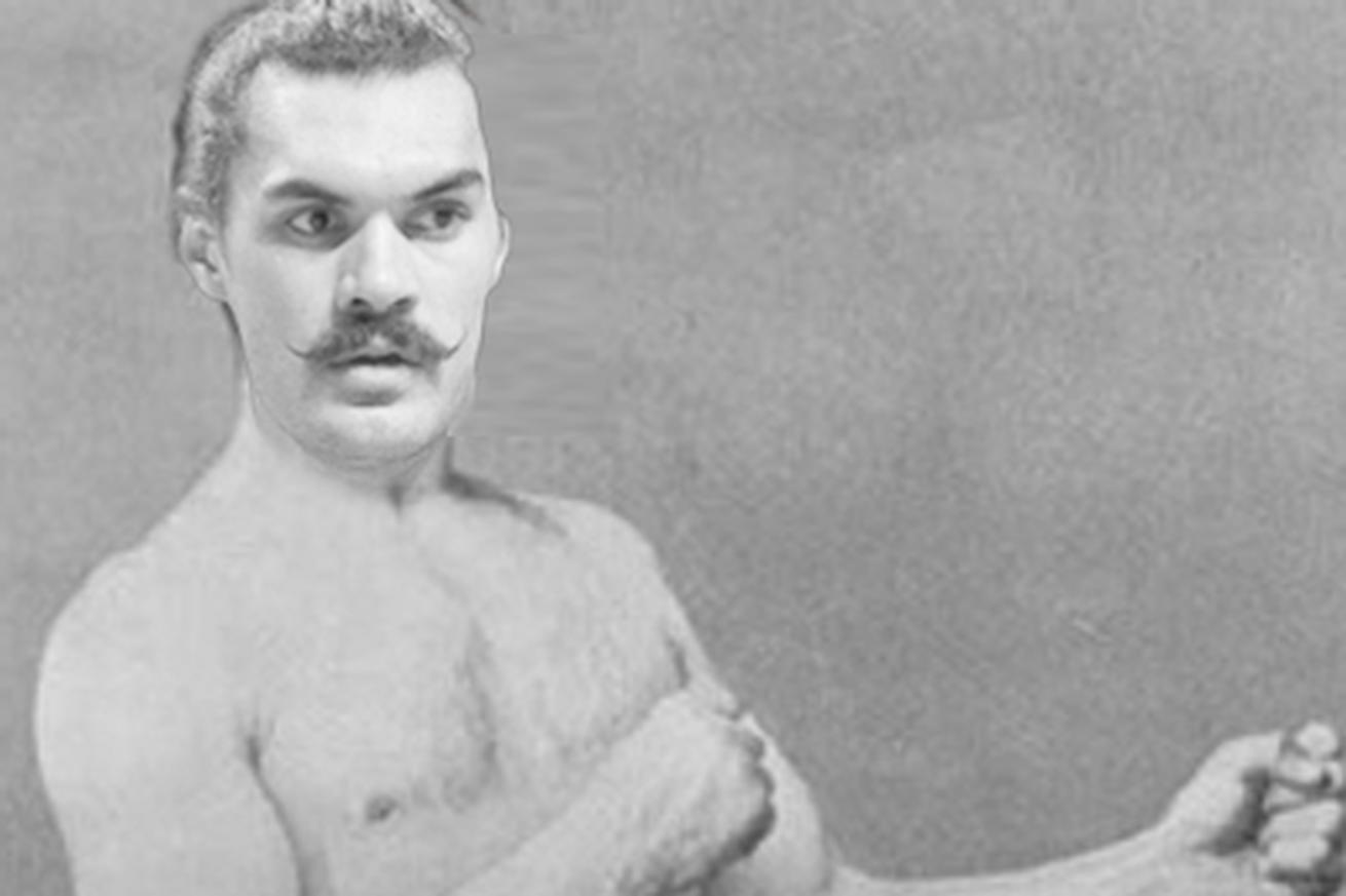 Steven Adams' new mustache shows he's ready for an old-time strongman competition