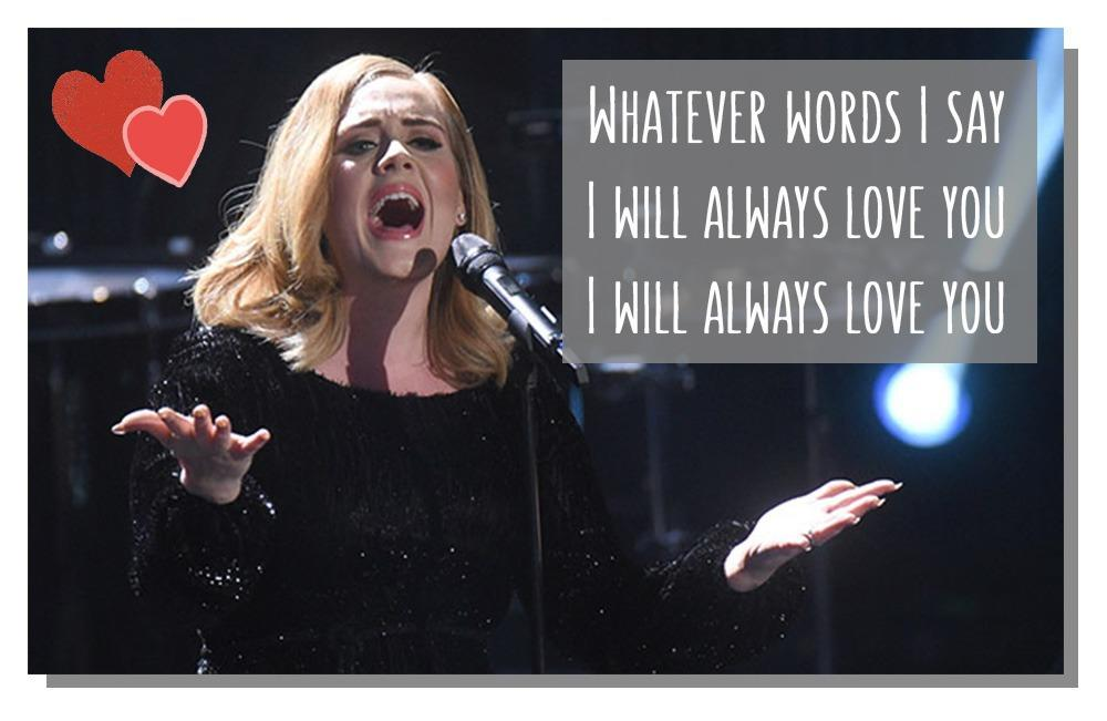 These Adele lyrics made perfect messages for your Valentine's Day cards