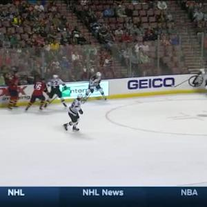 Niklas Backstrom Save on Sean Bergenheim (14:43/2nd)