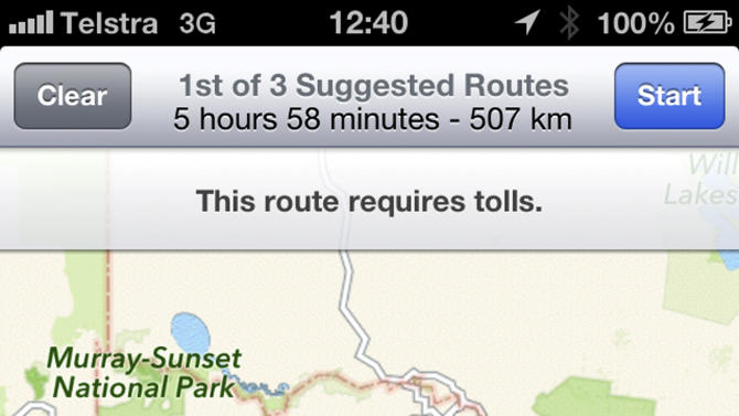 iSolated: Bad Apple Maps directions lead to desert