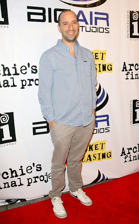 Tony Hale arrives for the Premiere Of &quot;Archie's Final Project&quot; at the Laemmle Monica on September 22, 2011 in Santa Monica, California. 