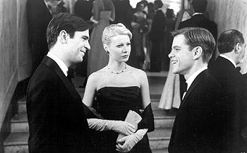 Peter Smith-Kingsley ( Jack Davenport ), Marge Sherwood ( Gwyneth Paltrow ) and Tom Ripley ( Matt Damon ) in The Talented Mr. Ripley