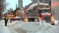 Despite forecasts for flurries tomorrow, the city of Montreal says it is still planning to have the snow removed from all Montreal streets by Sunday evening.