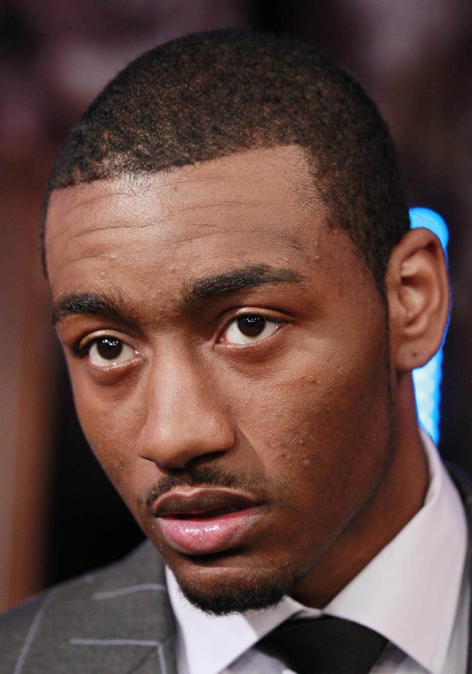 Washington Wizards' John Wall attends the 2011 NBA basketball draft lottery, Tuesday, May 17, 2011 in Secaucus, N.J. (AP Photo/Julio Cortez)
