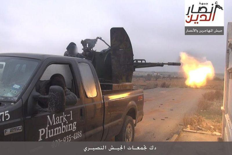 Texas plumber's truck somehow ends up in Syrian civil war