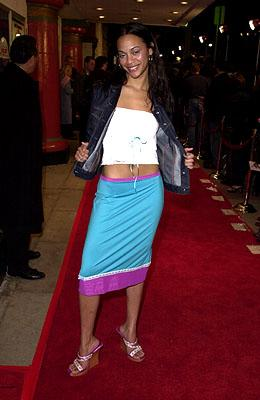 Zoe Saldana at the Westwood premiere of Dimension's Get Over It