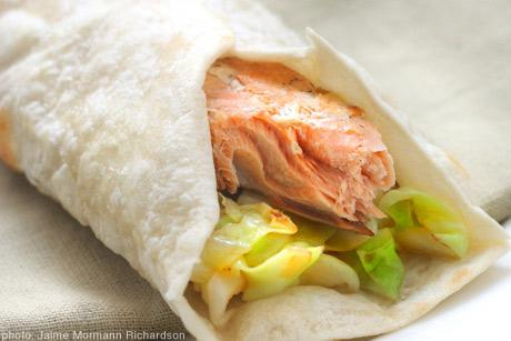 Asian Salmon Wraps