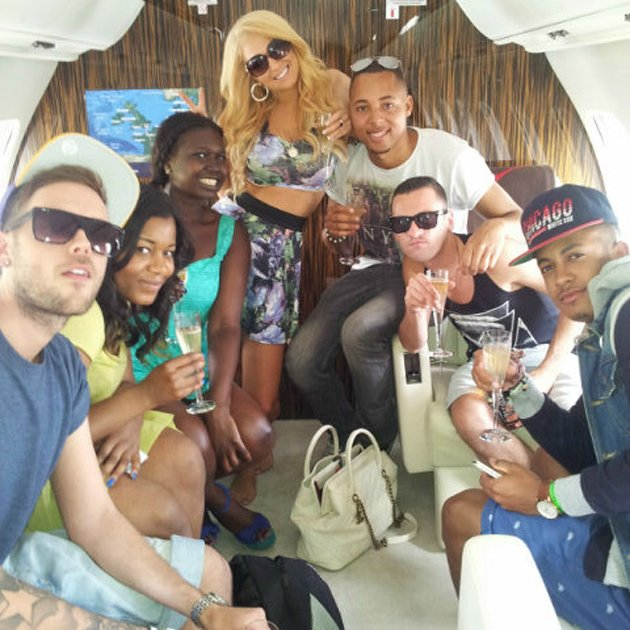 Tulisa's birthday celebrations in Ibiza.