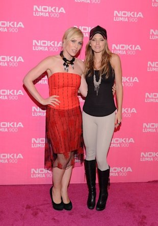 Natasha Bedingfield and AnnaLynne McCord stopped by the Lumia Lounge at the Nokia Theatre L.A. LIVE celebrating the launch of the Nokia Lumia 900 in pink.