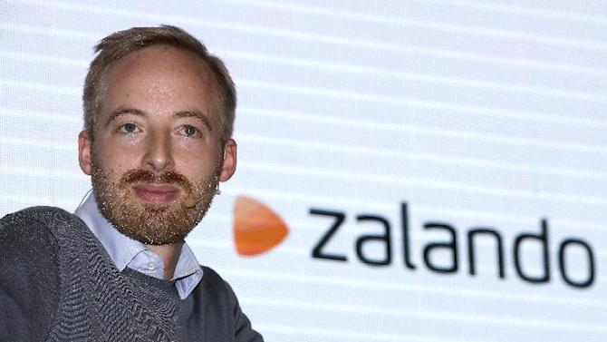 The Aug. 28, 2014 photo shows Rubin Ritter, CFO and member of the management board of fashion retailer Zalando as he attends a news conference in Berlin, Germany. Europe's biggest online fashion retailer, Zalando SE, says it plans a public listing on the Frankfurt exchange later this year. Zalando said in a statement Wednesday, Sept. 3, 2014 that it intends to offer 10 to 11 percent of its stock in the IPO. Founded six years ago, the Berlin-based company is one of Germany's most successful Internet start-ups, with some 7,000 employees. (AP Photo/Michael Sohn)
