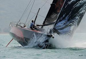 The Puma Ocean Racing team competes during the stage one start of Leg 4 to Auckland
