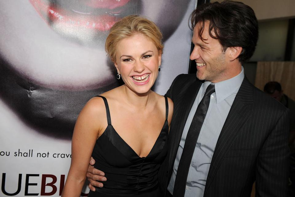 "Anna Paquin and Stephen Moyer attend HBO's premiere of ""True Blood"" on September 4, 2008 in Hollywood, California."