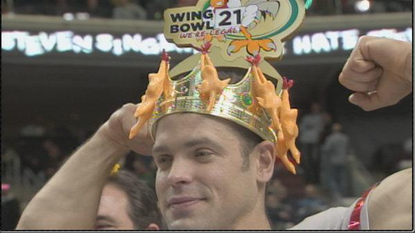 New Englander wins Philly's Wing Bowl 21
