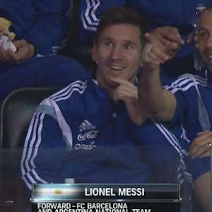 Messi, Argentinian Soccer Team In Attendance
