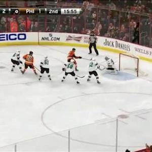 Alex Stalock Save on Michael Raffl (04:07/2nd)