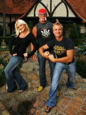 Hulk Hogan with daughter Brooke and son Nick