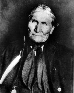 """FILE - This undated file photo shows the Chiricahua Apache Geronimo, late in his life. The leader of the Fort Sill Apache Tribe is looking for a formal apology from President Barack Obama for the government's use of the code name """"Geronimo"""" for Osama bin Laden. (AP Photo, File)"""