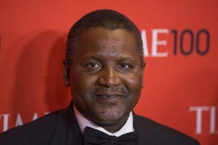 Dangote arrives at the Time 100 gala celebrating the magazine's naming of the 100 most influential people in the world for the past year, in New...