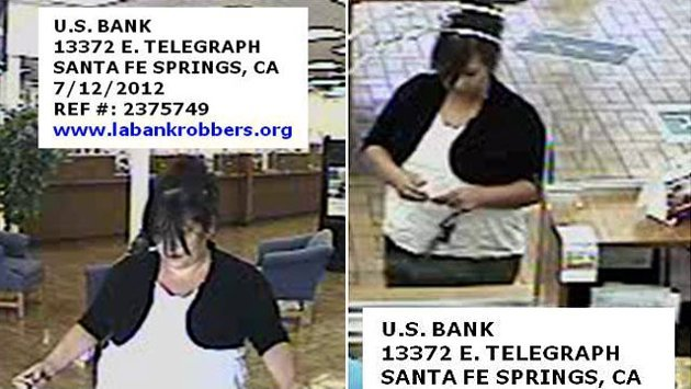 > Jul 26 - 'Plain Jane Bandit' Goes on Bank Robbery Spree - Photo posted in BX Daily Bugle - news and headlines | Sign in and leave a comment below!