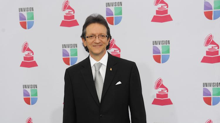 Latin Recording Academy President and CEO Gabriel Abaroa arrives at the 13th Annual Latin Grammy Awards at Mandalay Bay on Thursday, Nov. 15, 2012, in Las Vegas. (Photo by Brenton Ho/Powers Imagery/Invision/AP)