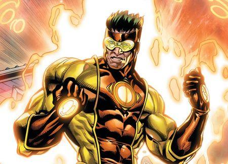 The new superhero Captain Citrus is seen in an image provided by the Florida Department of Citrus