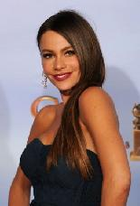 Sofia Vergara smiles at the 69th Golden Globe Awards in Los Angeles on January 15, 2012 -- Getty Images