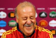 Spanish coach Vicente Del Bosque grimaces as he takes part in a press conference on June 26. Del Bosque cuts to many people's eyes a lugubrious presence on the touchline but former Spanish and Real Madrid striker Fernando Morientes says the coach's intelligence is what sets him apart from a lot of other coaches