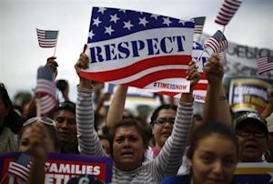 Protesters calling for comprehensive immigration reform gather on the Washington Mall