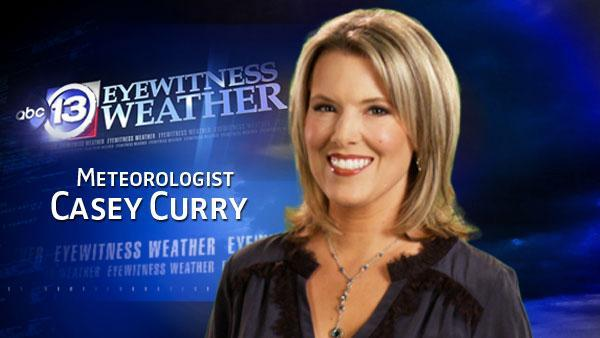 Casey Curry's Monday weather forecast