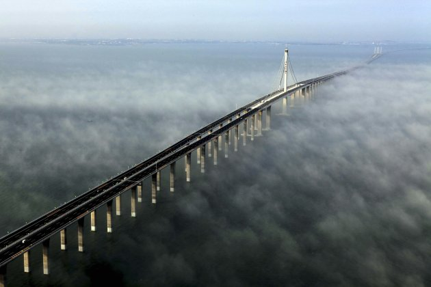 You can see more photos here   and some vital stats are belowLongest Bridge In The World Over Water