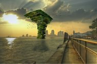 The floating Sea Tree would act as an offshore nature sanctuary for animals to live near cities.