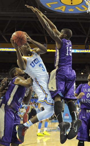 No. 13 UCLA beats James Madison 100-70