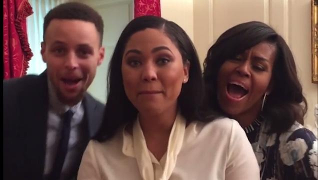 Steph Curry And His Wife Uniquely Dub Smash 'Barbara Ann' With Michelle Obama