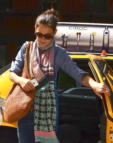 Katie Holmes is seen entering the Children&#39;s Museum Of The Arts in New York City on July 9, 2012 -- Getty Premium