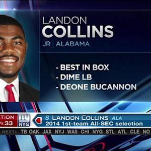 New York Giants pick safety Landon Collins No. 33 in the 2015 NFL Draft