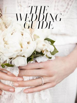 """This promotional image released by Vogue shows the cover of Vogue's """"The Wedding Guide,"""" a wedding guide just in time for summer nuptials. (AP Photo/Vogue)"""