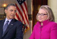 Barack Obama, Hillary Clinton | Photo Credits: CBSNews/60